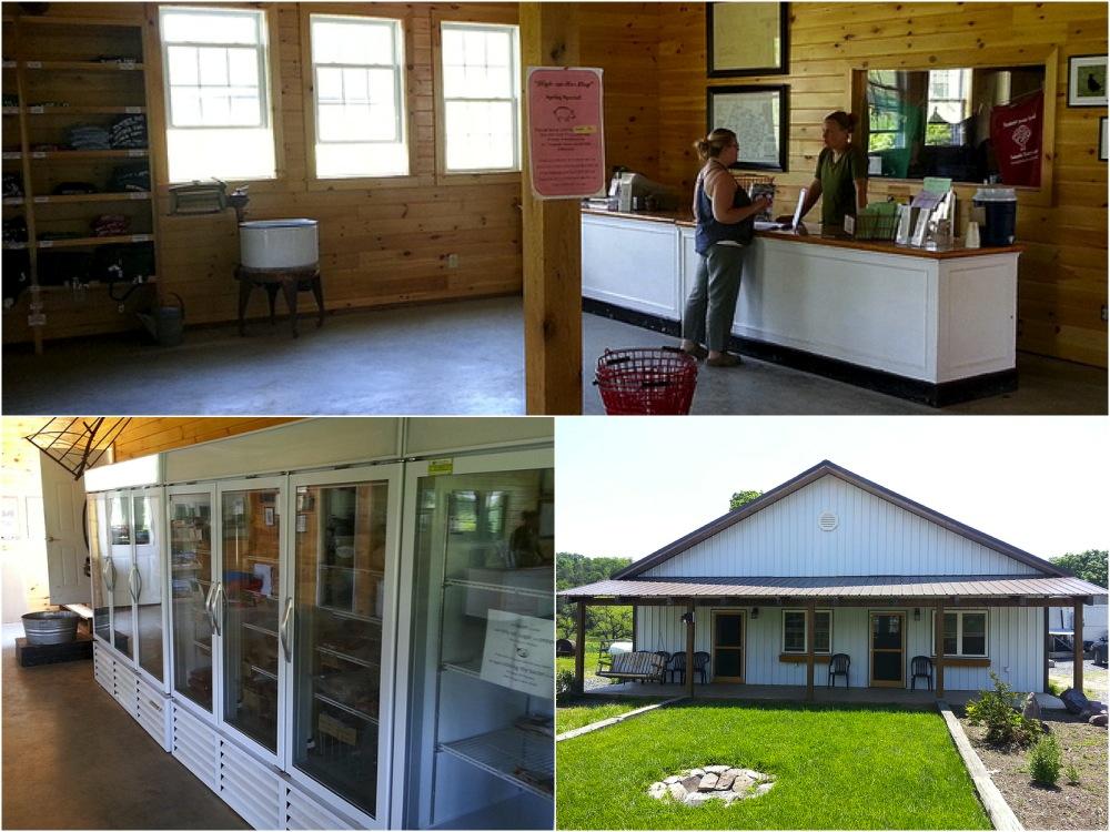 Polyface Farm's on-farm shop. The only nutrient export system on the farm!